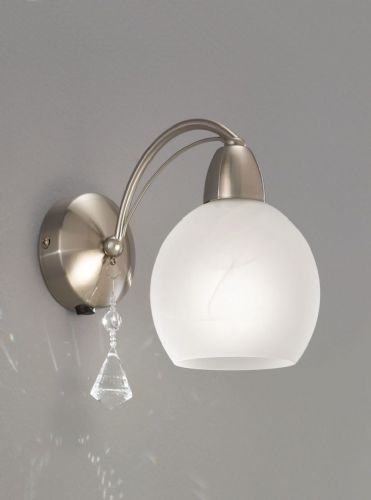 Franklite FL2277/1 Satin Nickel Wall Light (Class 2 Double Insulated)